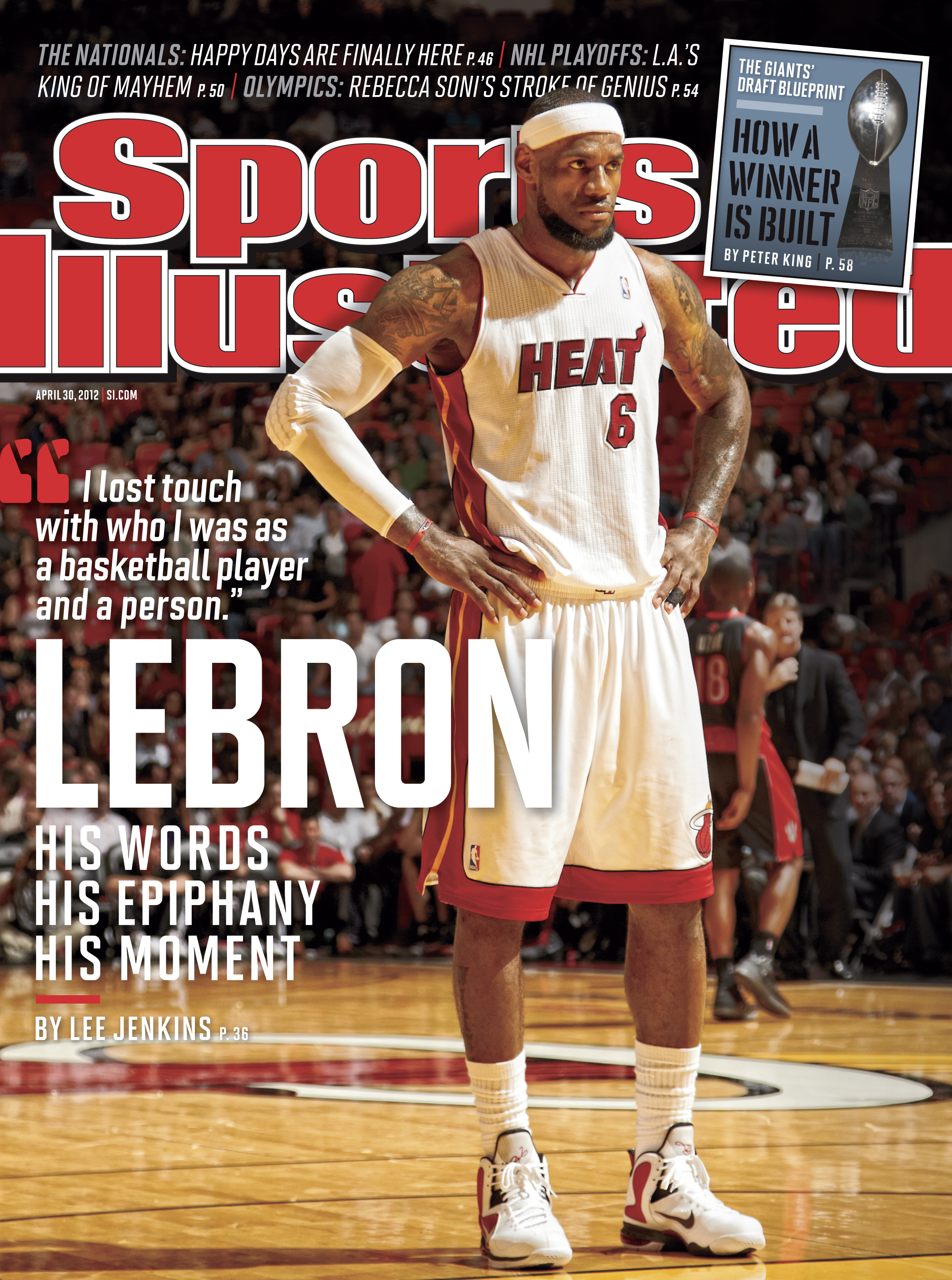 sigroup inside sports illustrated page  lebron